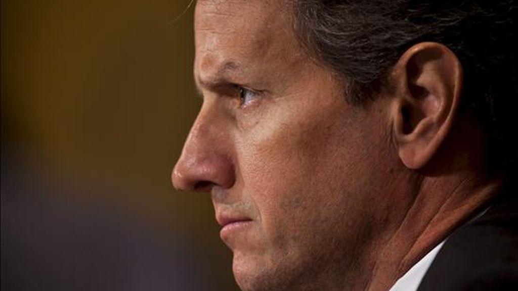 """El secretario del Tesoro de EE.UU., Timothy Geithner, admitió que la creación de empleo """"no es tan rápida como la necesitamos"""" y los empresarios """"son aún muy cautos"""" a la hora de plantearse contrataciones. EFE/Archivo"""