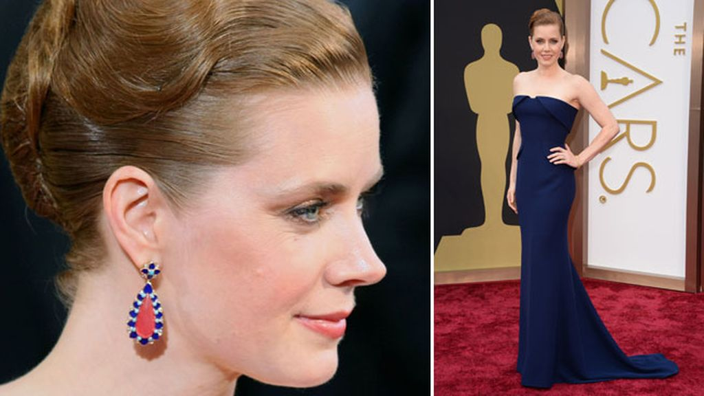 Amy Adams con pendientes de Tiffany & Co