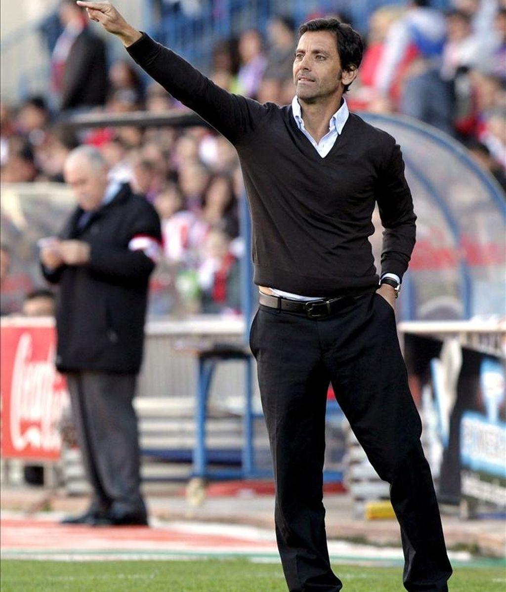 El entrenador del Atlético de Madrid Quique Sánchez Flores. EFE/Archivo