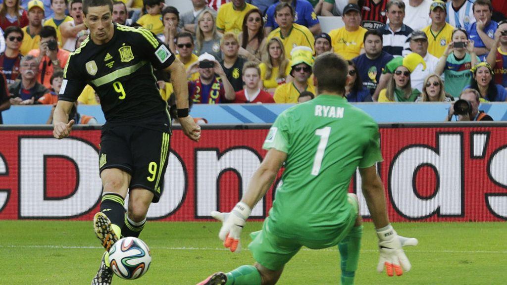 Torres marcó el segundo de tiro cruzado