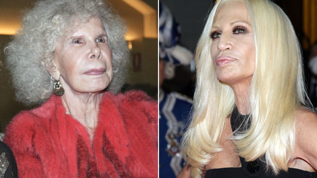 La Duquesa de Alba y Donatella Versace