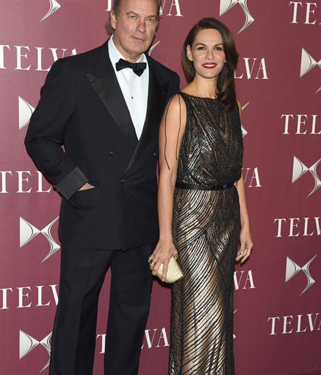Bertín Osborne y Fabiola Martínez, que vestíua de Rosa Clará