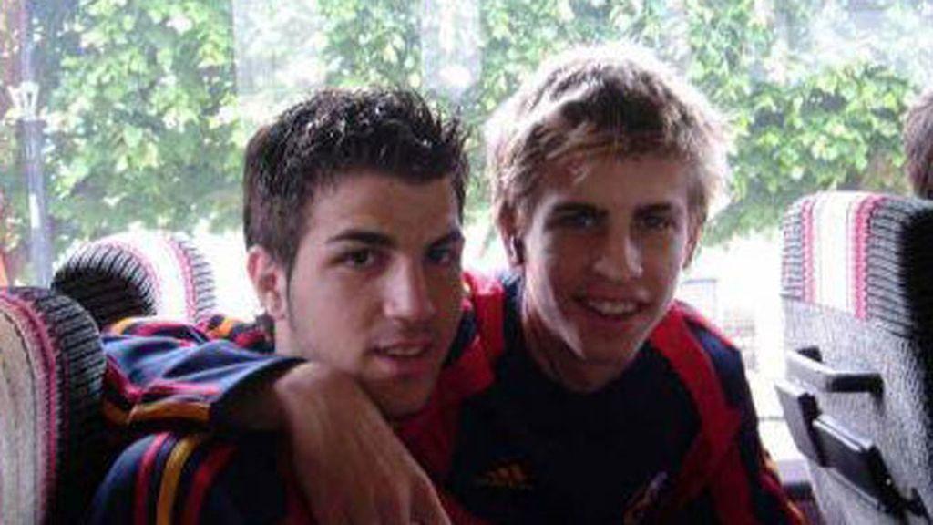 La adolescencia de Piqué y Cesc