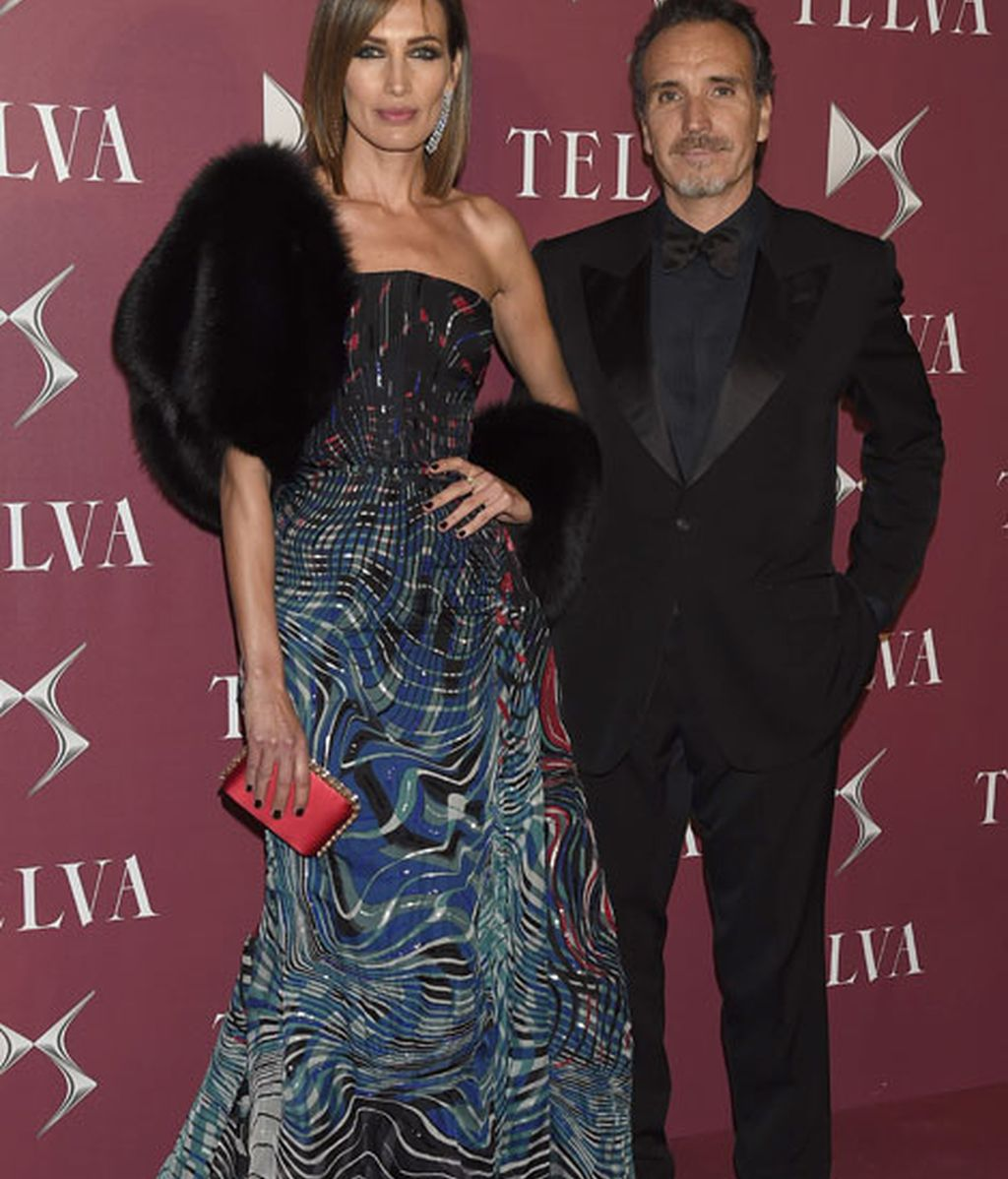 Nieves Álvarez, de Zuhair Murad, y su marido Marco Severini
