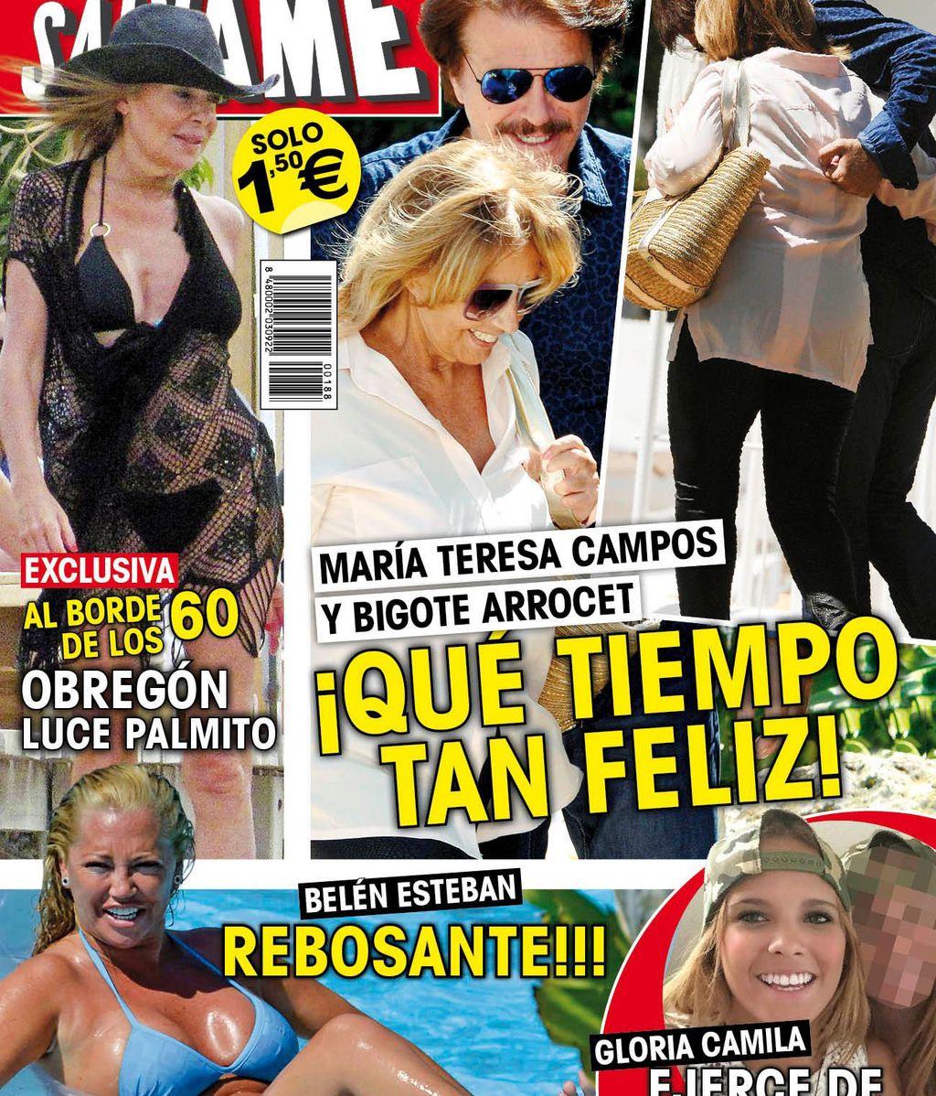 Bigote Arrocet y María Teresa Campos, en la portada de la revista Sálvame