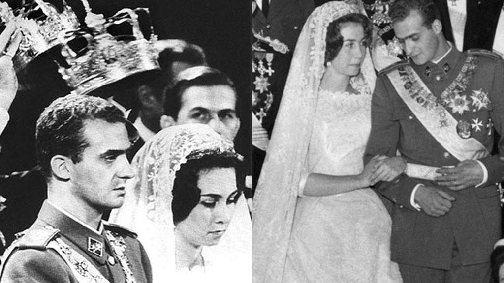 Su boda en Atenas en 1962