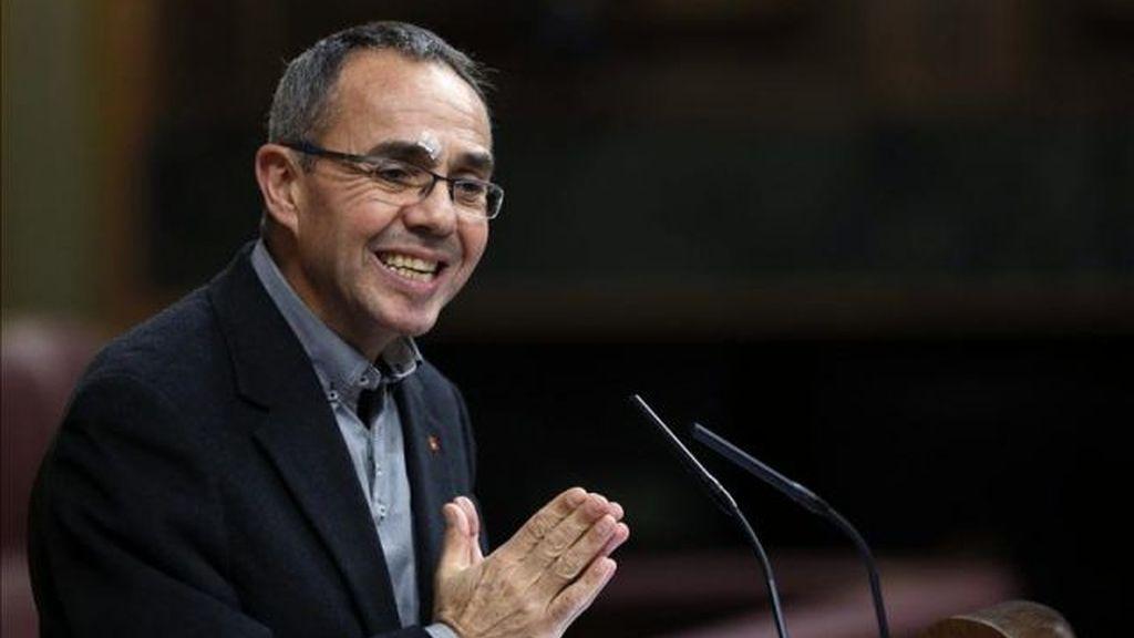 Joan Coscubiela, portavoz de ICV y diputado de Izquierda Plural en el Congreso