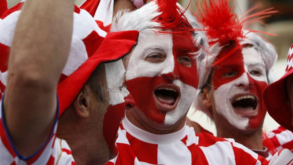 Mayoría croata en las gradas en el partido con Italia