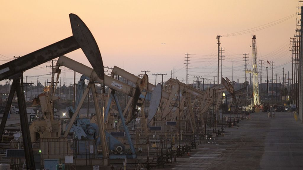 Campo petrolífero en California, EE.UU.