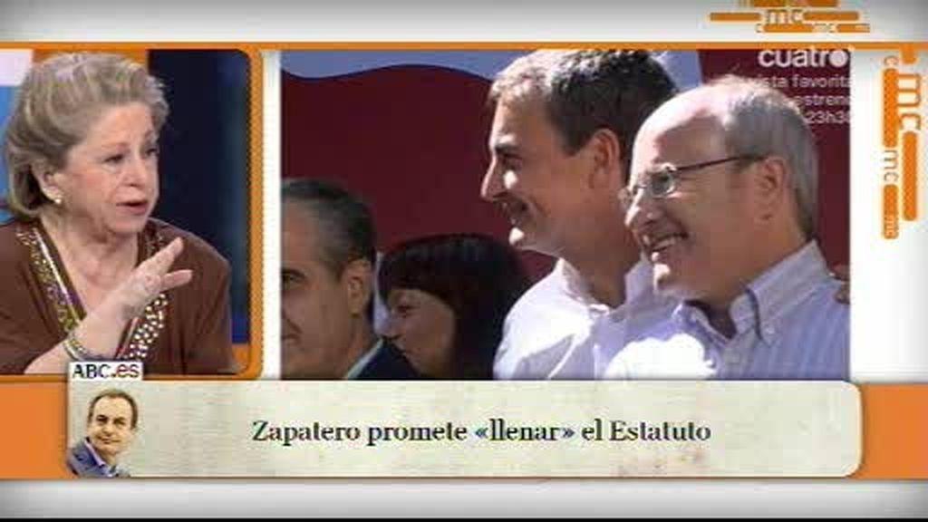 Zapatero apoya a Montilla en Cataluña