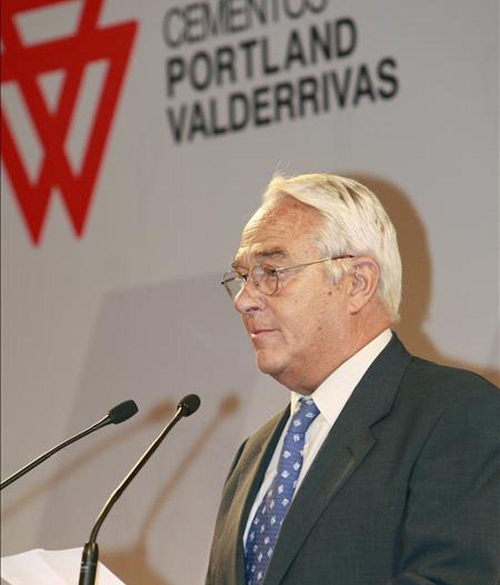 El presidente y consejero delegado de cementos Pórtland Valderribas, José Ignacio Martínez Ynzenga. EFE/Archivo