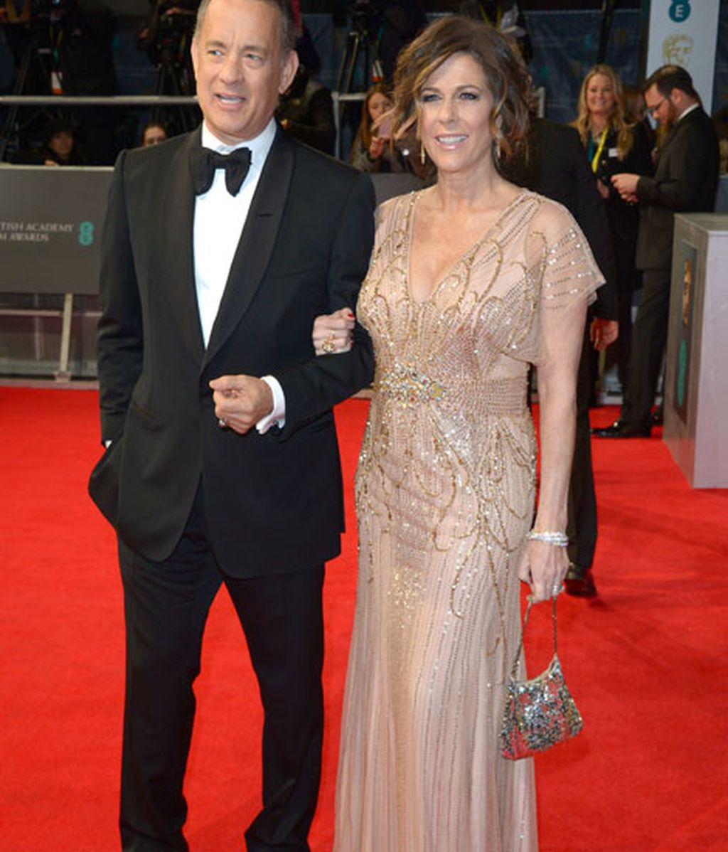 El actor Tom Hanks posa junto a su mujer, Rita Wilson