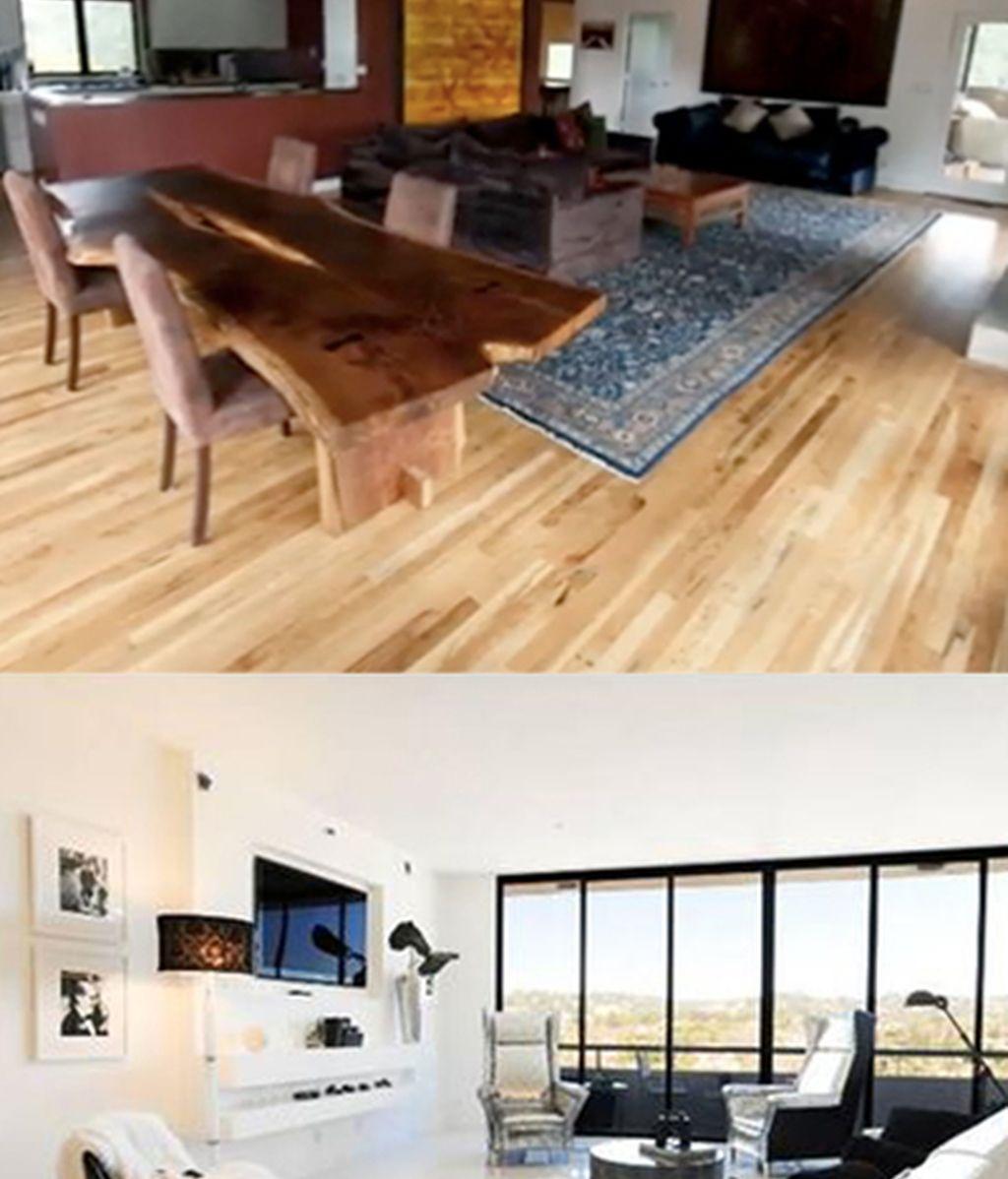 Una comparativa más, sus casas. Arriba la de Pattinson, abajo la de Bieber.