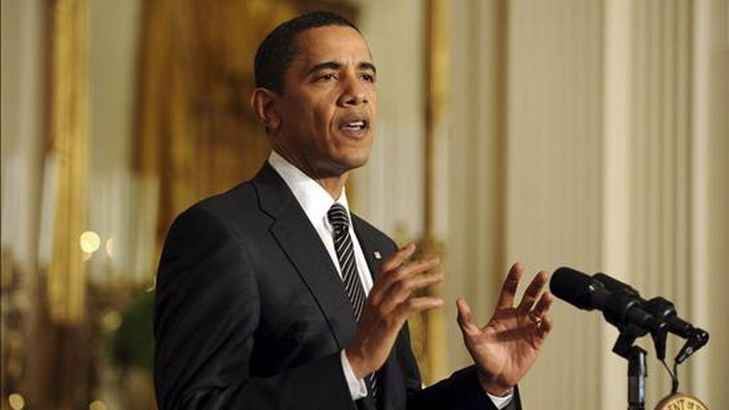 Hace tres semanas, durante la cumbre de la OTAN en Lisboa, Obama lanzó un encendido llamamiento en favor del tratado, al que se sumaron líderes como el propio Medvédev y el secretario general de la Alianza, Anders Fogh Rasmussen. EFE/Archivo