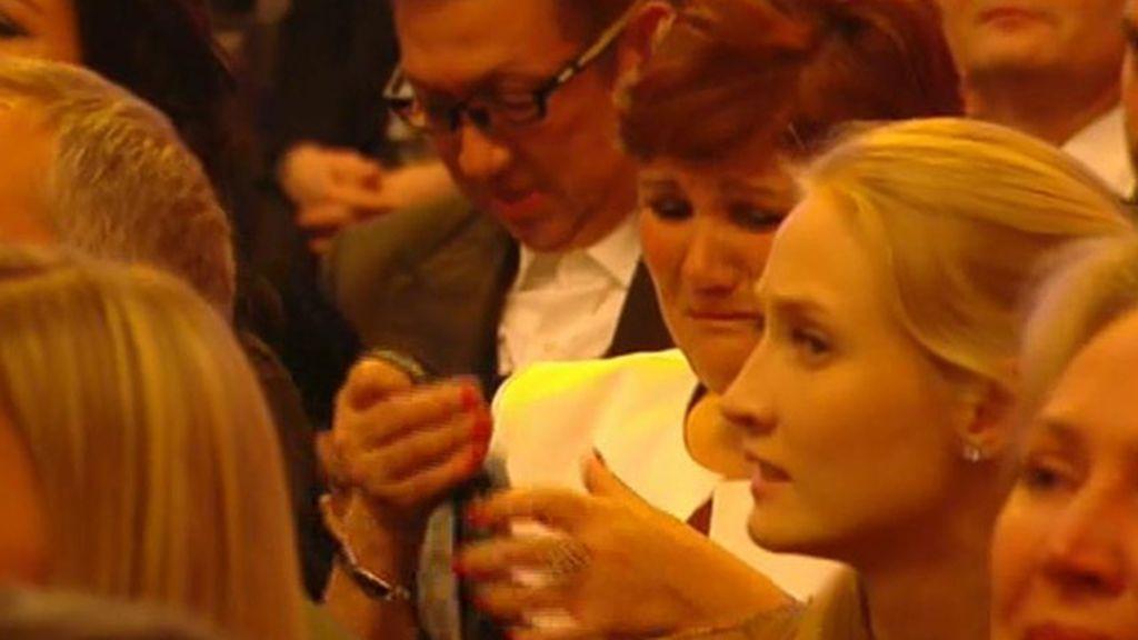La madre de CR7, llorando en la gala