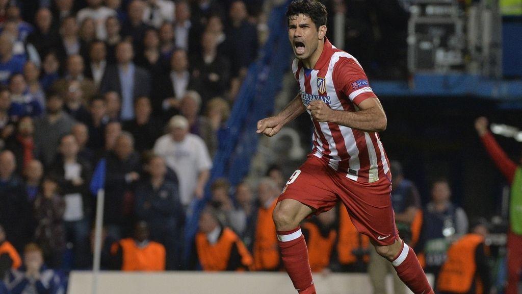 Diego Costa celebra su gol ante el Chelsea