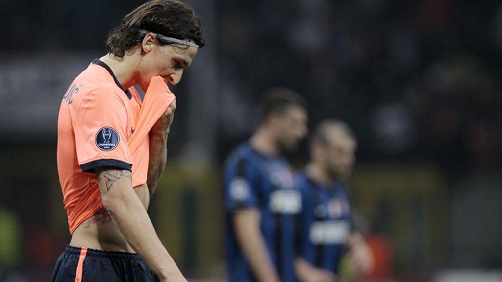 Ibrahimovic se lamenta tras un gol del Inter