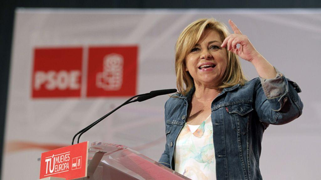 Mitin electoral de Elena Valenciano en Zaragoza