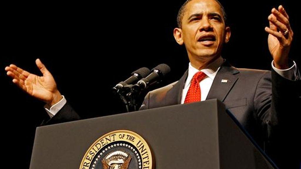 El presidente estadounidense Barack Obama pronuncia un discurso. EFE
