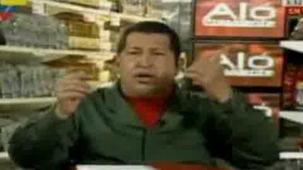 Hugo Chávez promociona electrodomésticos