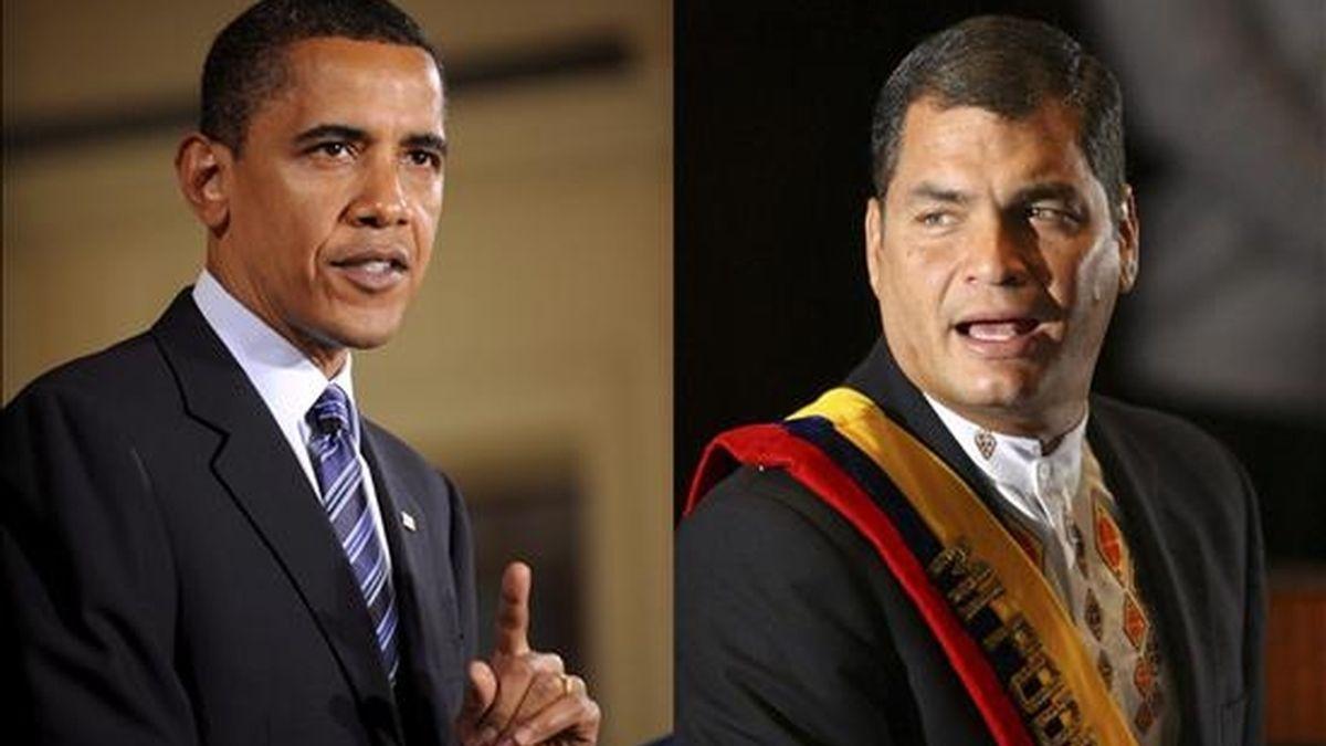 """Obama """"enfatizó su deseo de profundizar las relaciones bilaterales y de mantener el dialogo que asegure una relación productiva sobre la base del respeto mutuo"""" entre Ecuador y Estados Unidos. EFE/Archivo"""