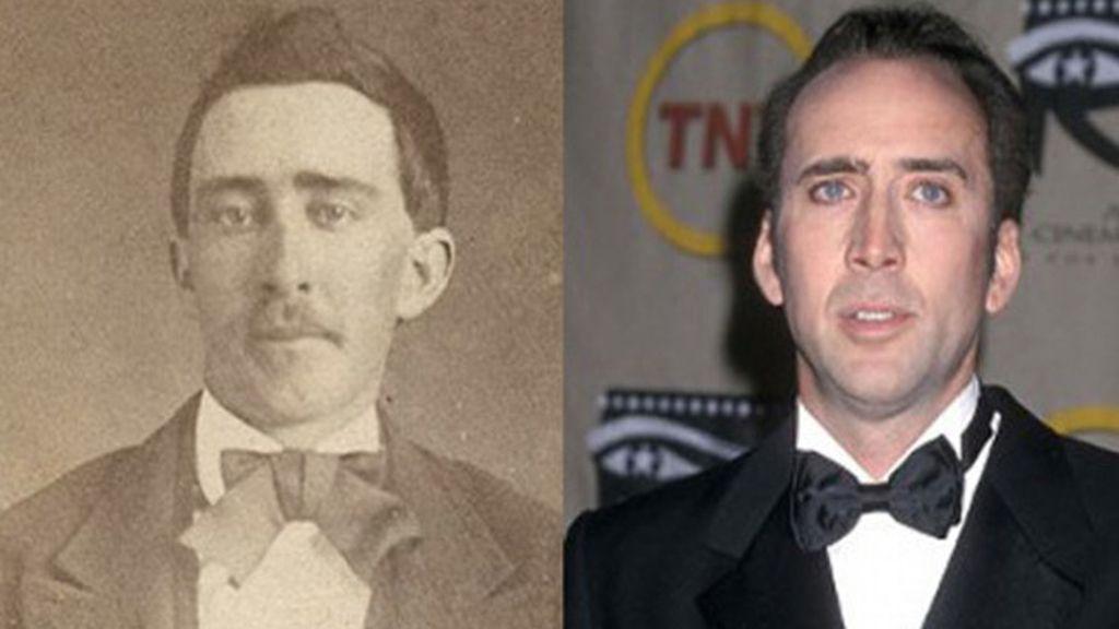 Un hombre y Nicolas Cage