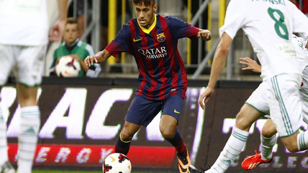 El Barça empata ante el Lechia Gdansk (2-2) en el debut de Neymar