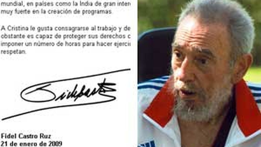 Firma de Fidel Castro en su último artículo de la serie 'Reflexiones'.