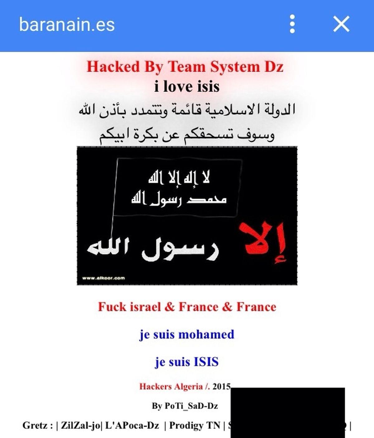 Hackeadas con frases yihadistas las webs de ayuntamientos navarros