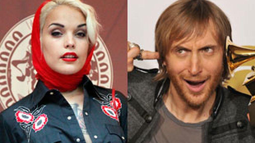 Vinila Von Buismark y David Guetta, entre los artistas que actuarán en los Festivales de agosto en España. Fotos: Gtres