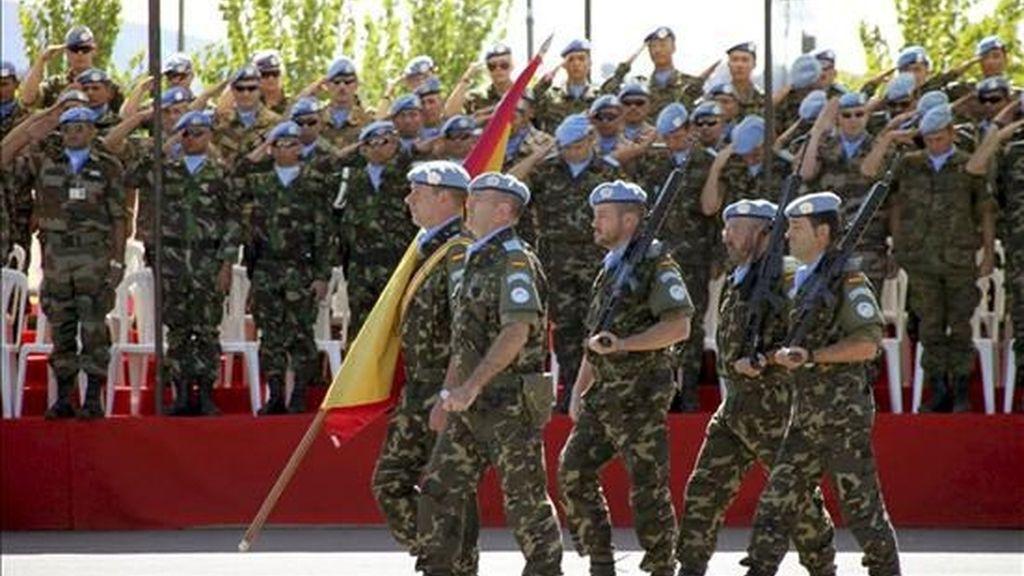 Militares españoles en la base Miguel de Cervantes de el Líbano