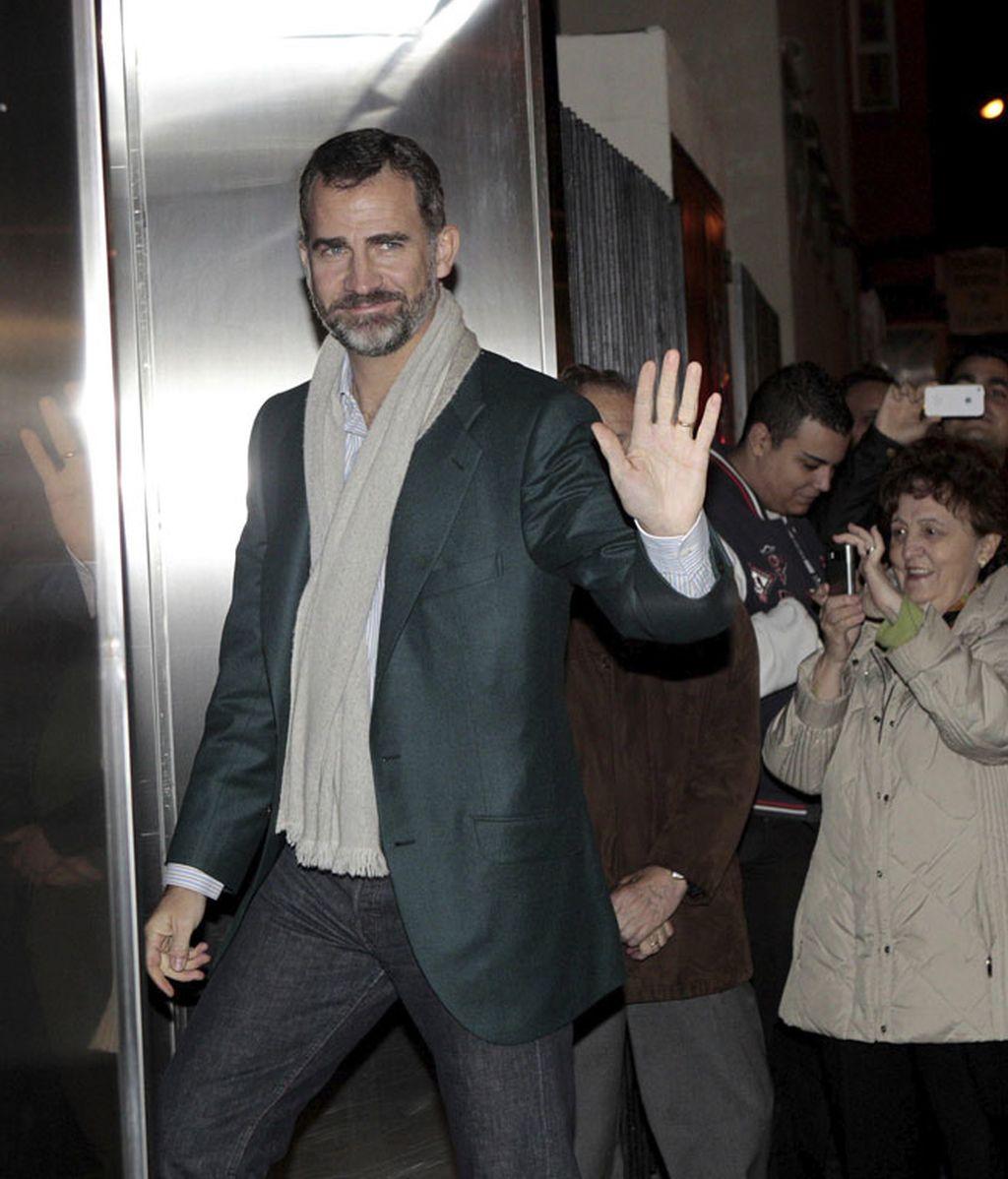 El príncipe llega a la clínica San José