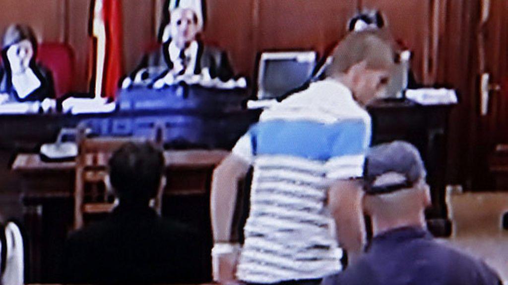 Miguel Carcaño durante el juicio