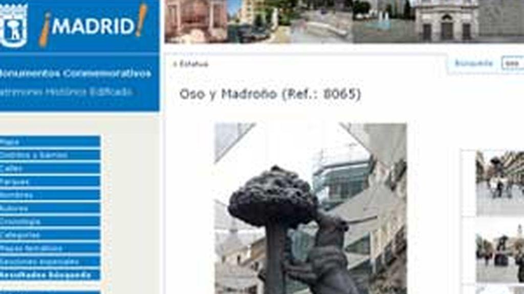 Captura del portal, el primero de sus características en España, que el Ayuntamiento de Madrid ha puesto a disposición de los usuarios. Foto: Informativos Telecinco