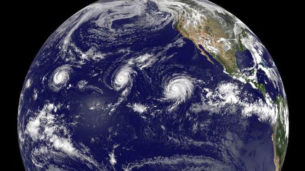 Tres huracanes, categoría 4 coinciden el Pacífico
