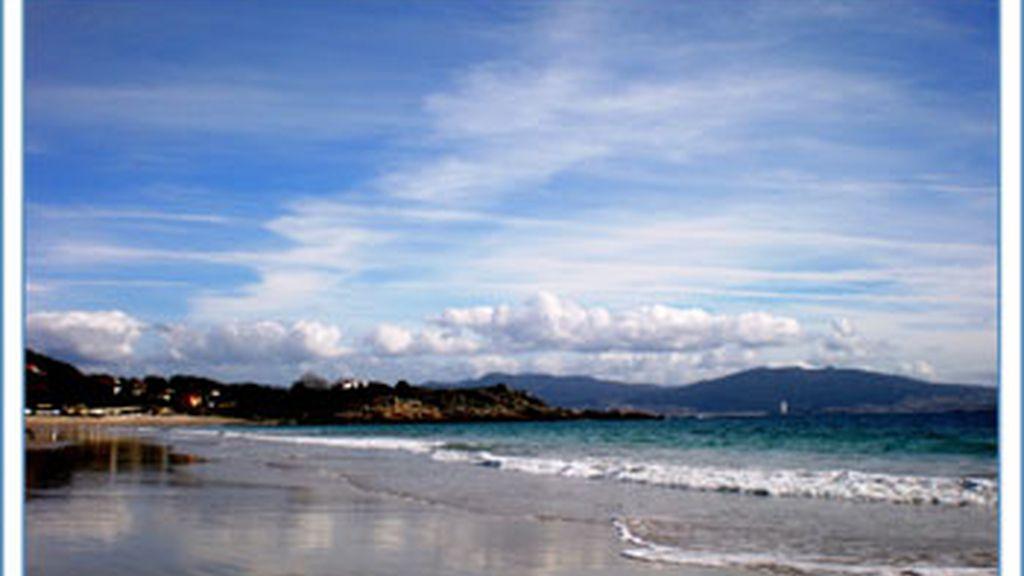 La playa de Nerga,  en Cangas do Morrazo - Rías Baixas