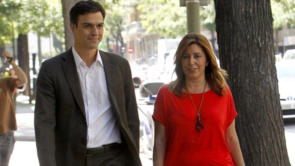 Sánchez abre su ronda de contactos con una reunión con Susana Díaz en Ferraz