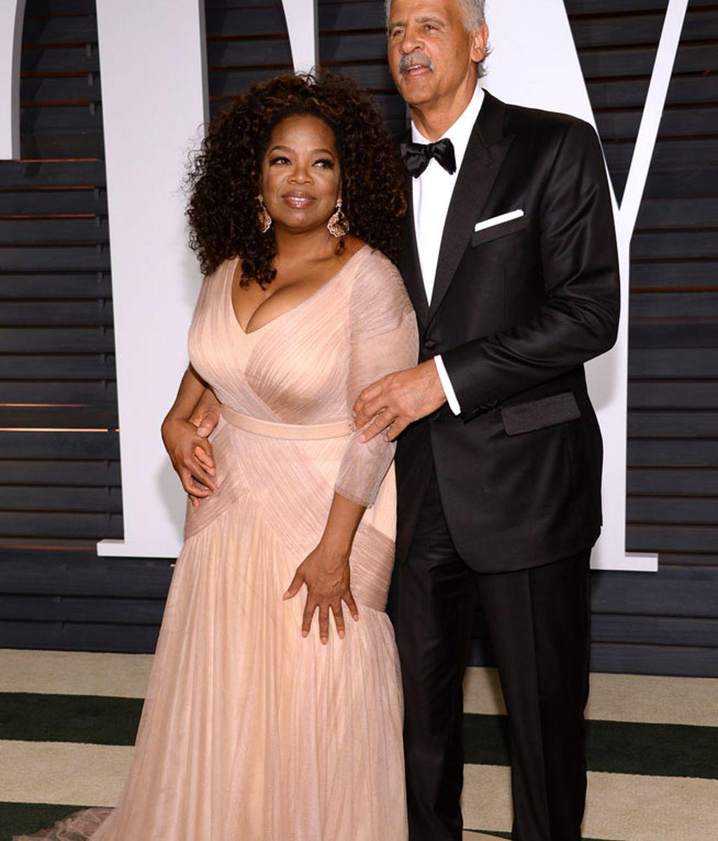 Oprah Winfrey y su pareja, Stedman Graham