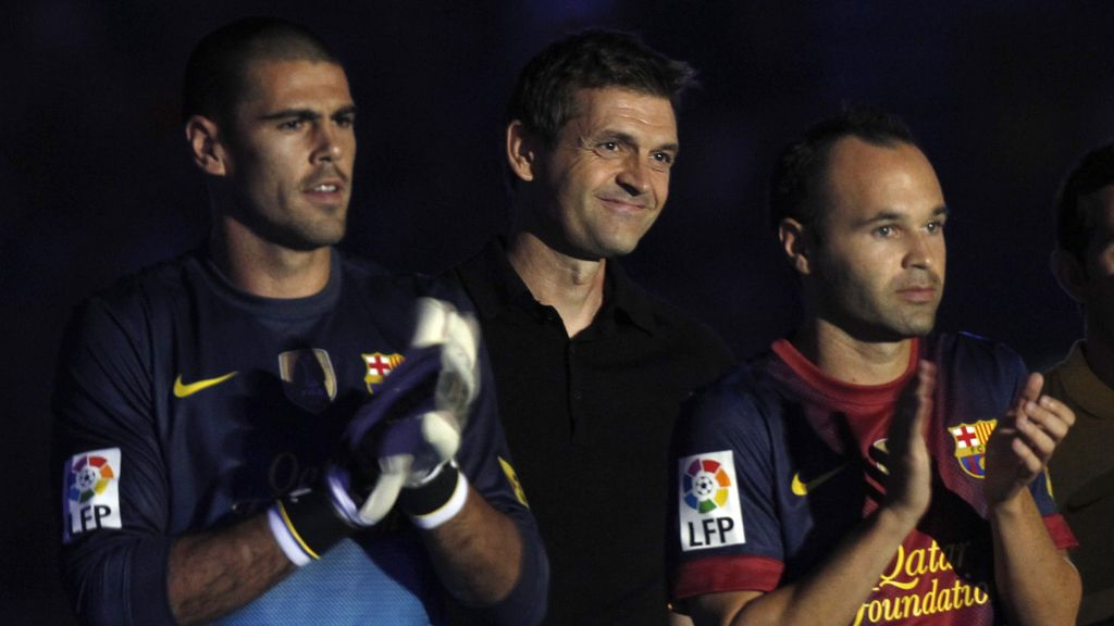 Dani Valdés, Tito Vilanova y Andrés Iniesta