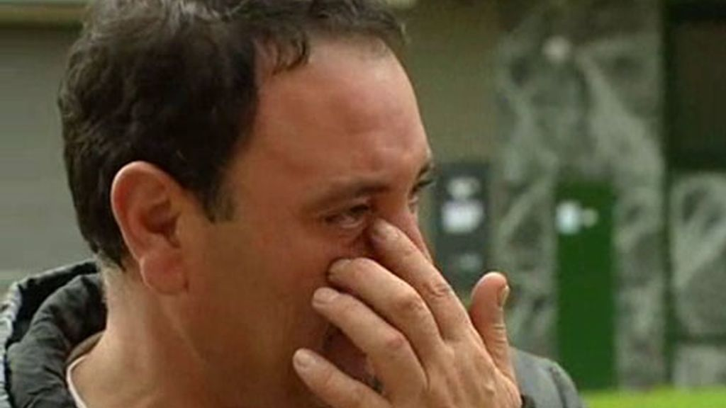 Jose no pudo contener las lágrimas