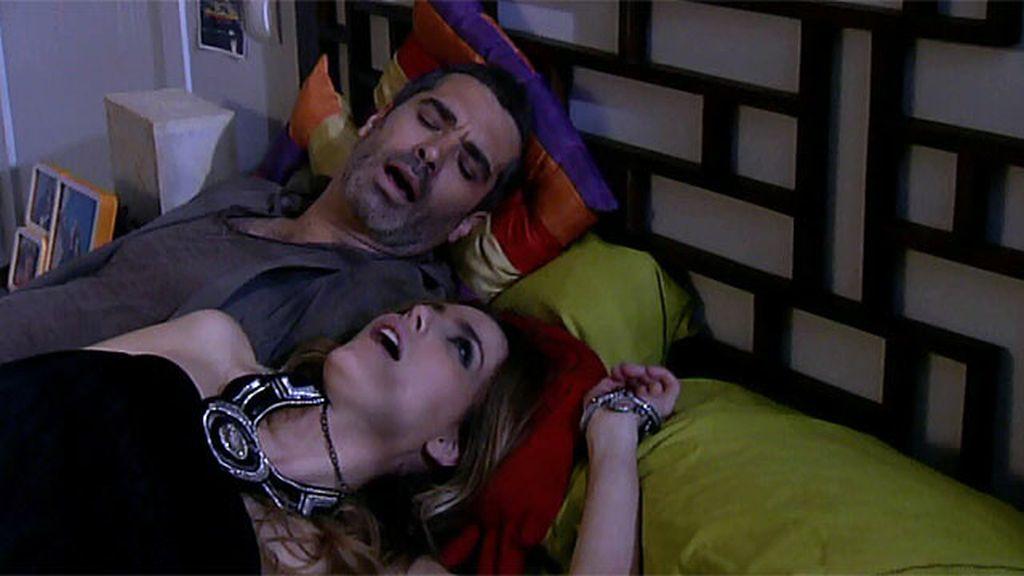 Sergio y Raquel, noche de salami
