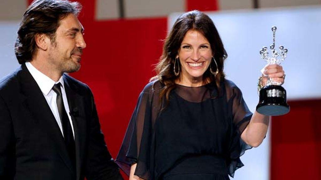 Julia Roberts recibe el Premio Donostia