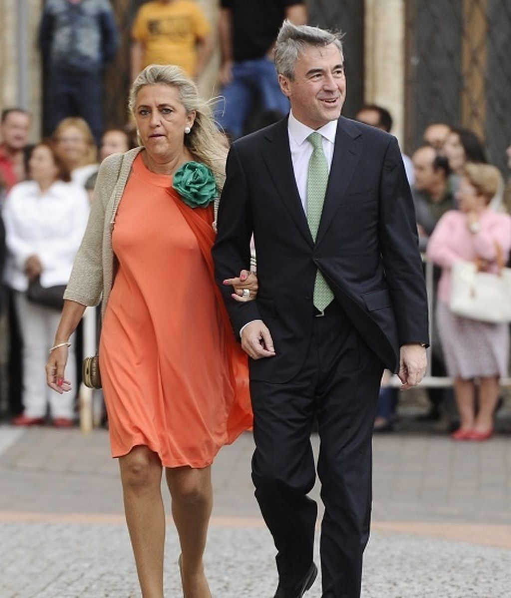 Ángel Aceves y su esposa