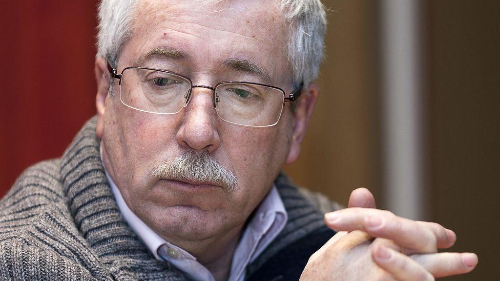 El secretario general de CCOO, Ignacio Fernández Toxo, en la asamblea de delegados del sindicato para informar sobre la reforma laboral.
