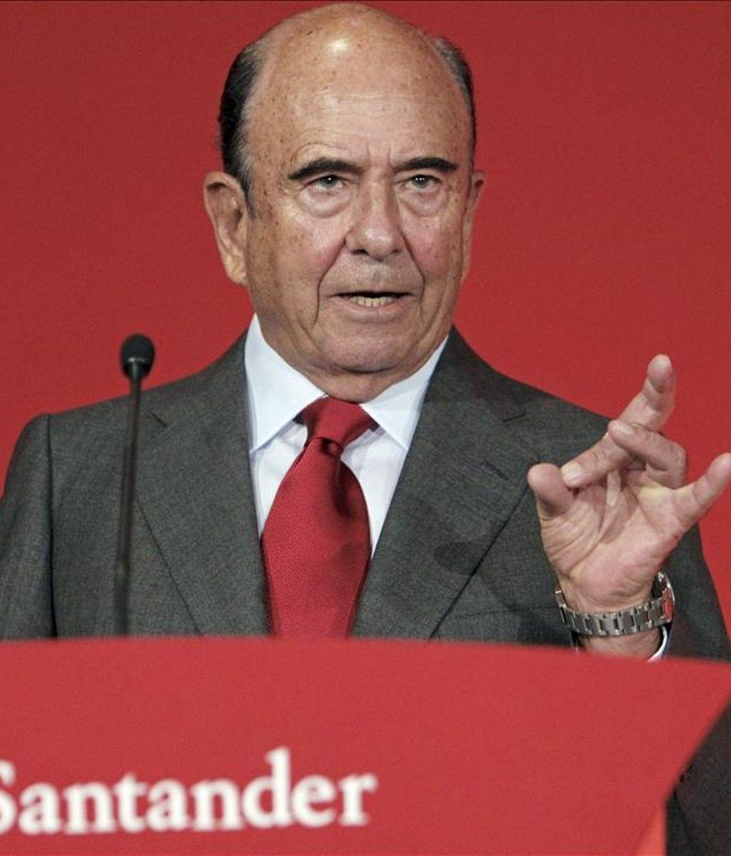 El presidente del Grupo Santander, Emilio Botín. EFE/Archivo