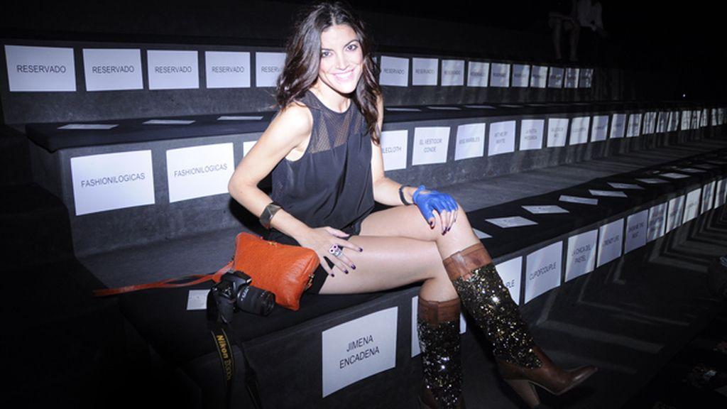 La blogger oficial de la MBFWM Jimena Mazucco, siempre con el look indicado para cada situación.