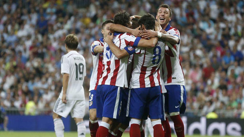 El Atlético de Madrid manda en el Bernabéu