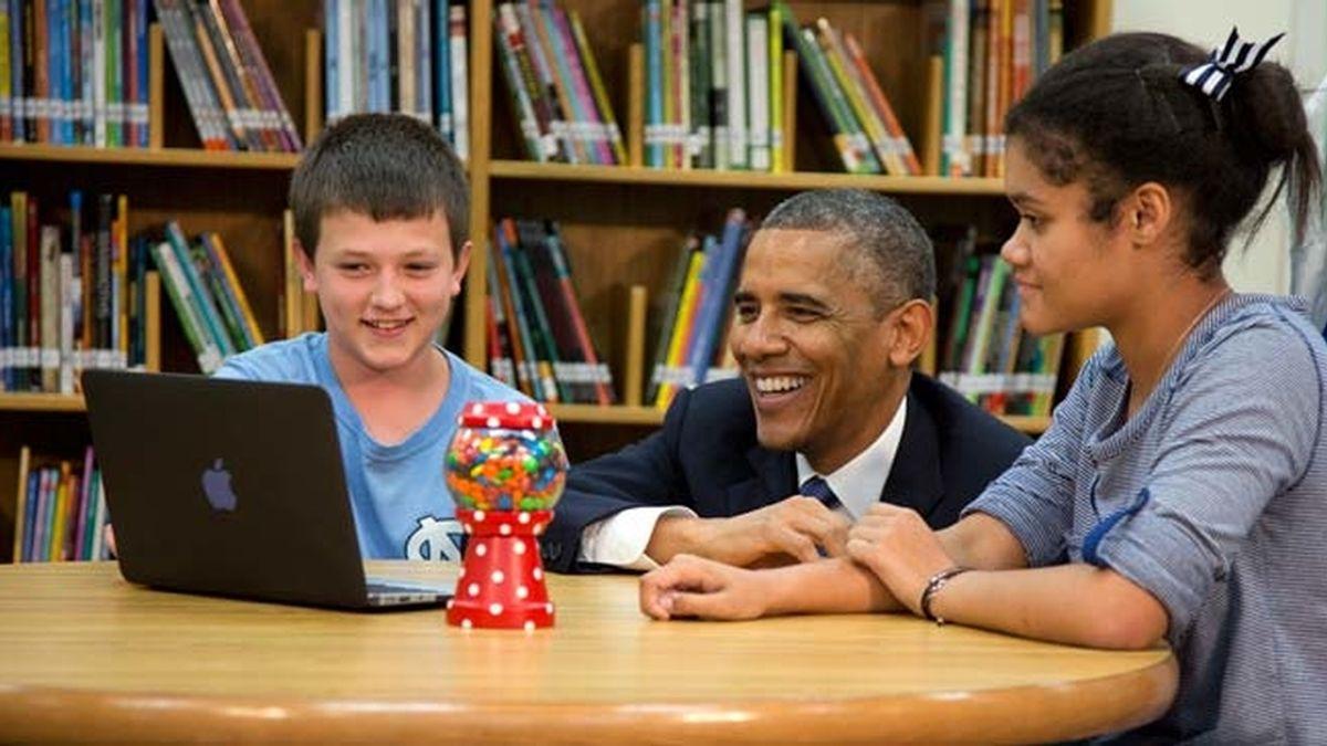 Obama vuelve al cole