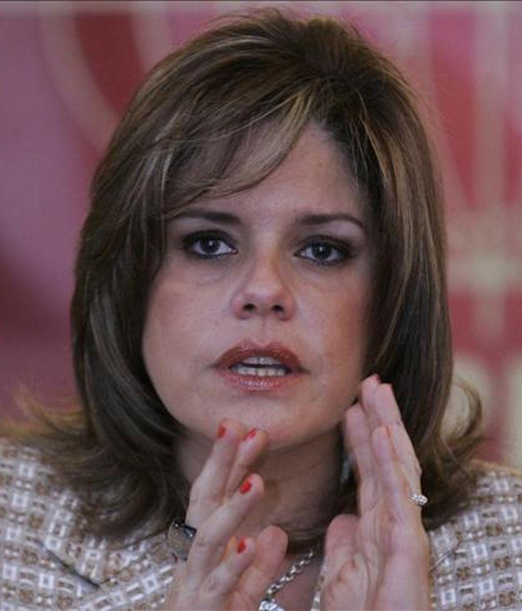 La ministra de Comercio Exterior del Perú, Mercedes Aráoz, señaló que las negociaciones continuarían con normalidad a pesar de algunas criticas provenientes de Europa por los recientes enfrentamientos entre policías e indígenas de la amazonía peruana. EFE/Archivo