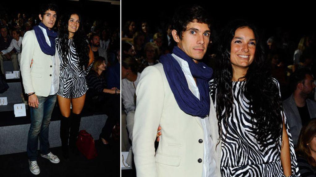 Sebastián Castella y Patricia Vázquez en el front row de Ángel Schlesser